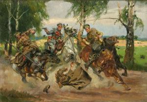 Wojciech Kossak, Potyczka z Kozakami, 1917, wł. Muzeum Wojska Polskiego w Warszawia