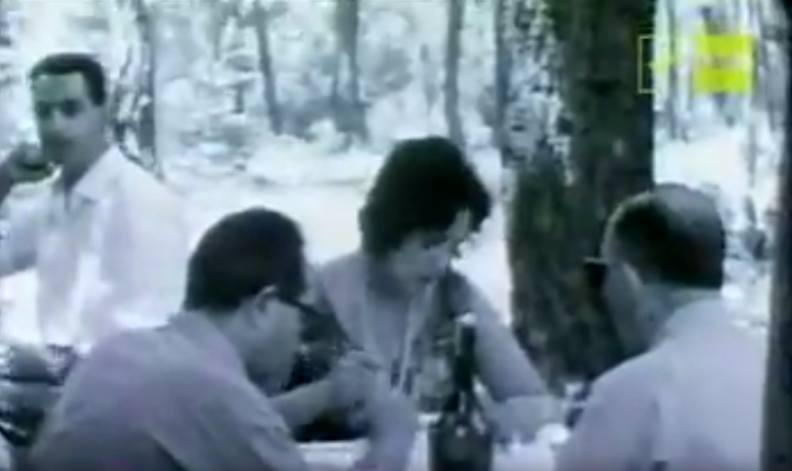 """""""Summer holiday picnic in the 1960s"""". On Facebook a viewer comments: """"Those filmed here were all born before or during the war and had been subjected to the hardships of war. For them the material well-being of the 1960s was like paradise""""."""