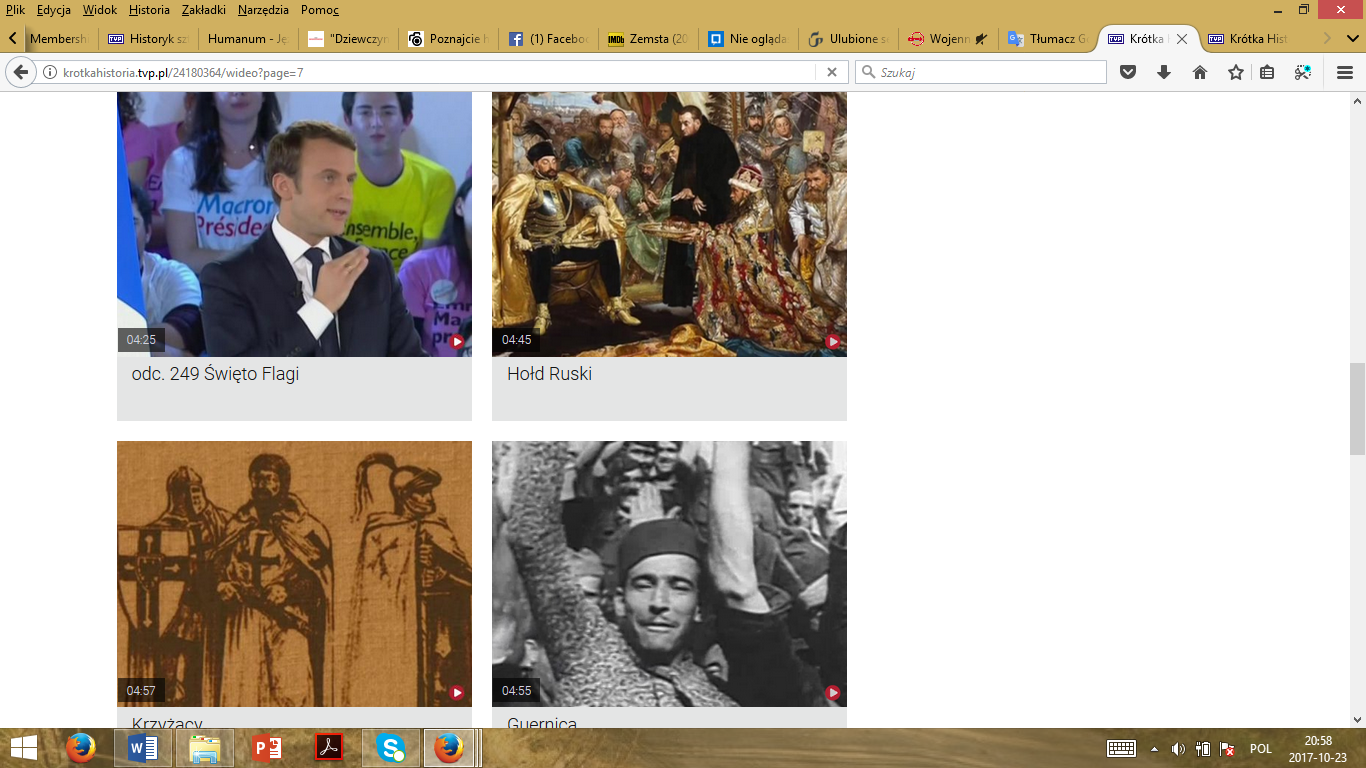 Print screen from the site of the Short story documentary series.
