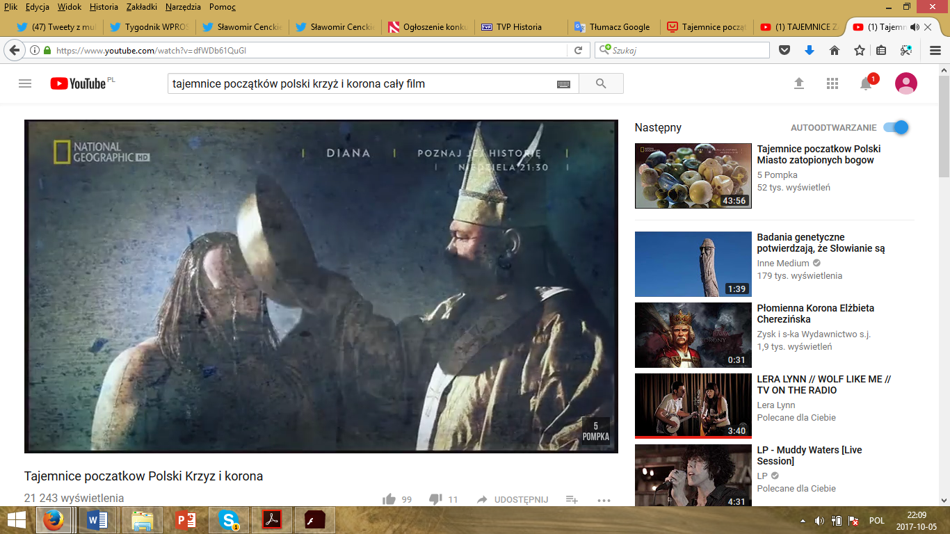 A print screen from the YouTube version of the movie, screened more than 21 000 times.