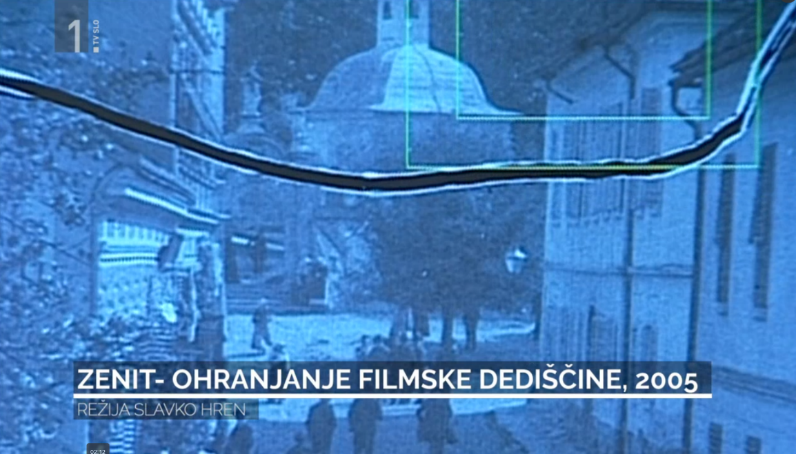 Still from the film showing damage on the original film, which was repaired by digitalisation.